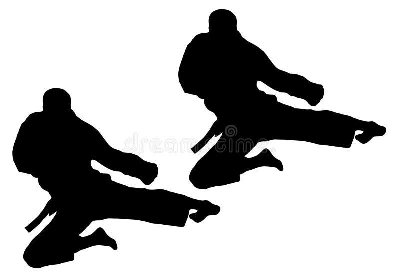Salto di karatè illustrazione vettoriale
