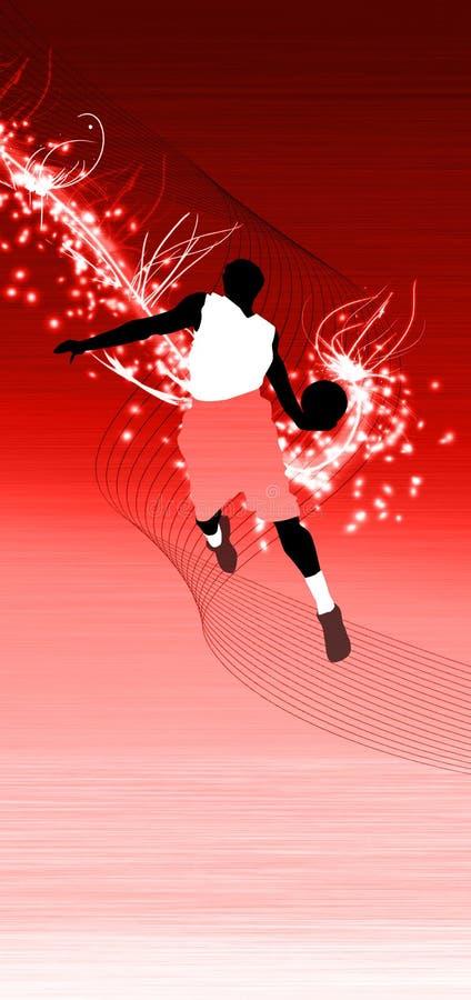 Salto di pallacanestro royalty illustrazione gratis