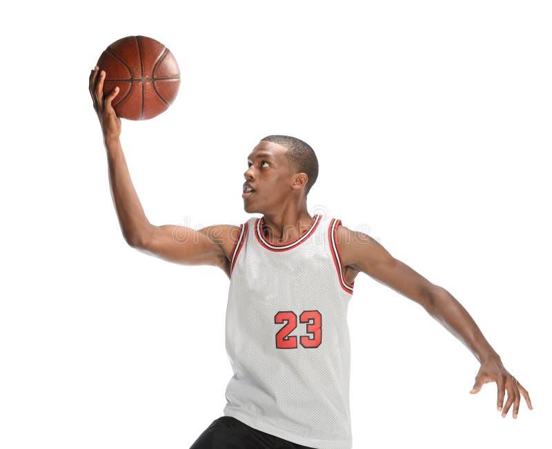 Salto do jogador de basquetebol fotos de stock royalty free
