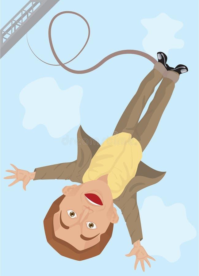 Salto do tirante com mola ilustração do vetor