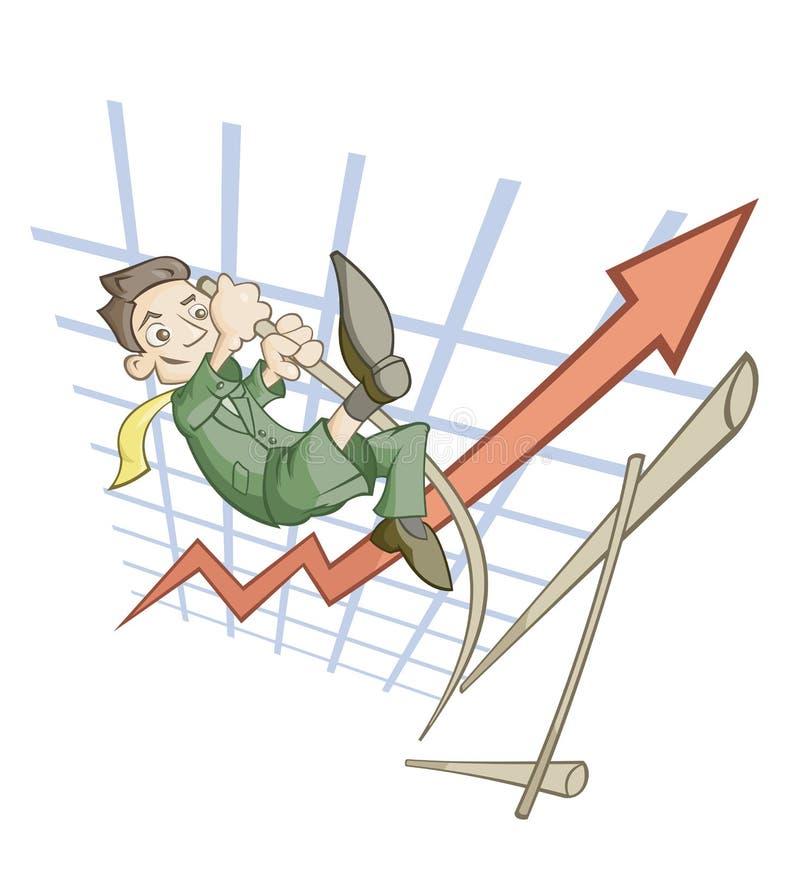 Salto elevado ilustração do vetor