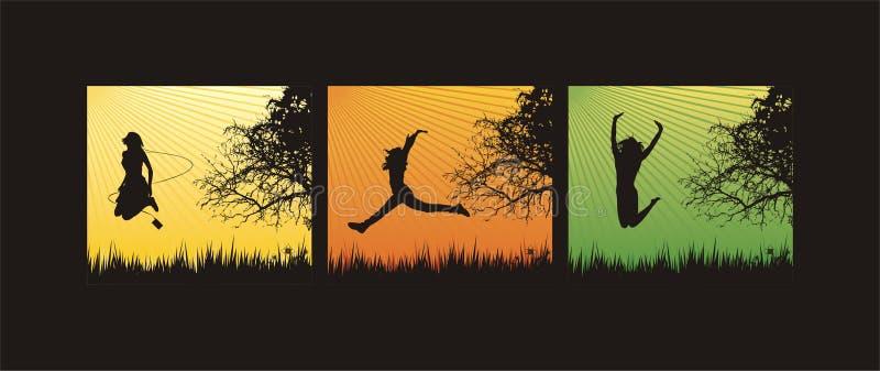 Download Salto en la hierba ilustración del vector. Ilustración de juego - 7151423