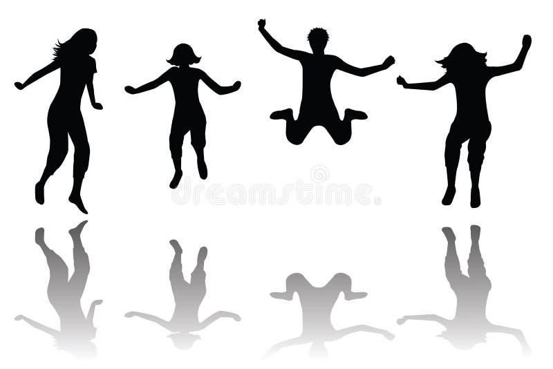 Salto feliz de los cabritos libre illustration