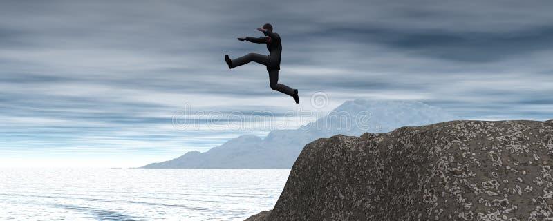 Salto gigante fotografía de archivo