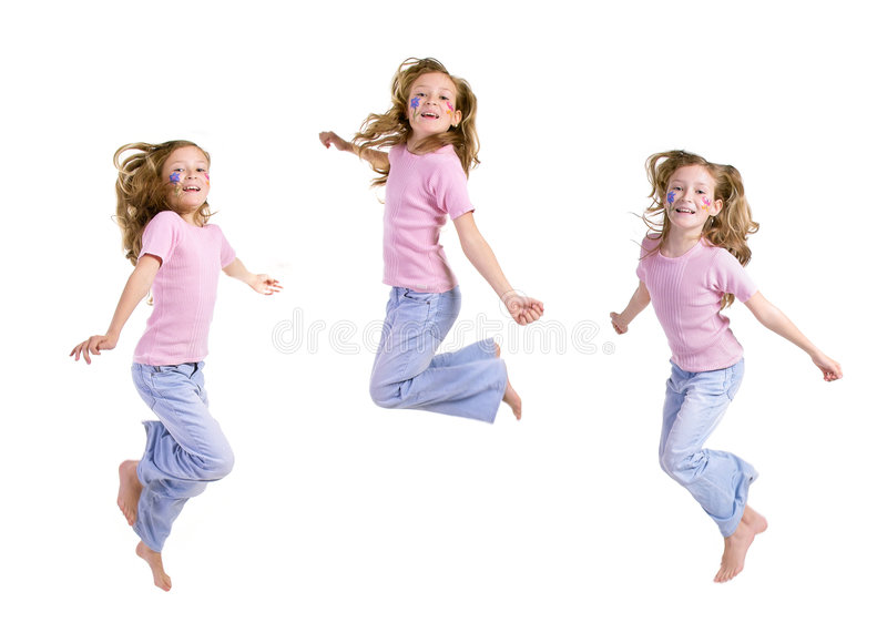 Salto, gioia, minore immagini stock