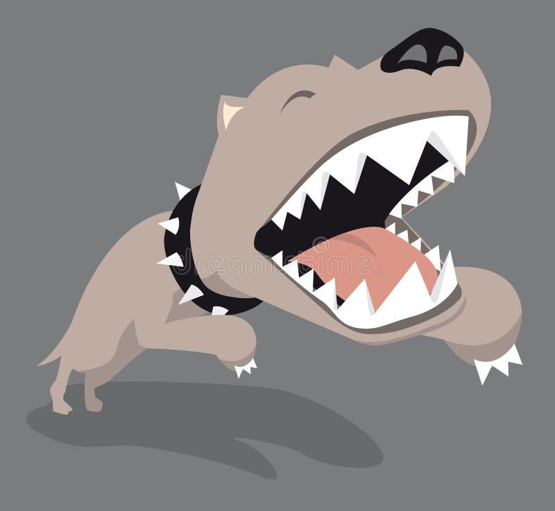 Salto grande do cão ilustração royalty free