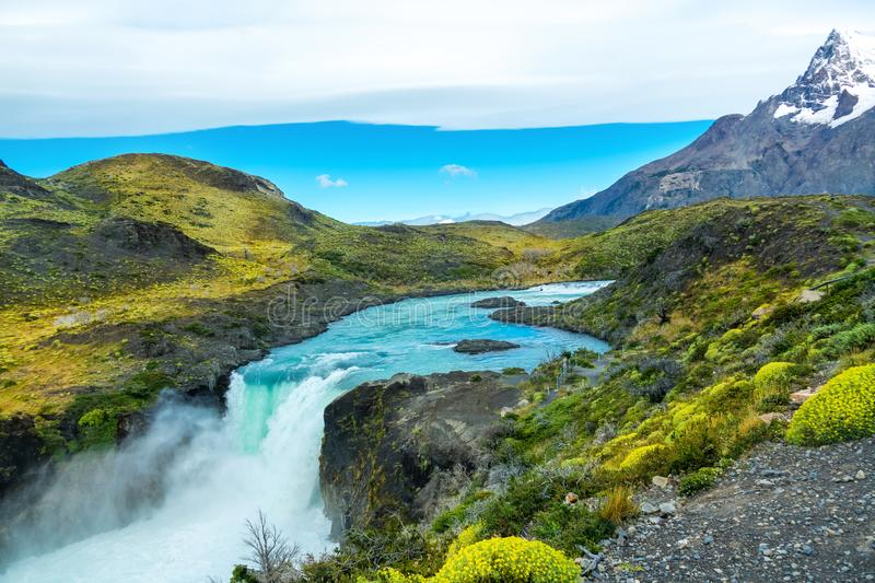 Salto Grande Waterfall Torres Del Paine Chile Stock Photo 71252864