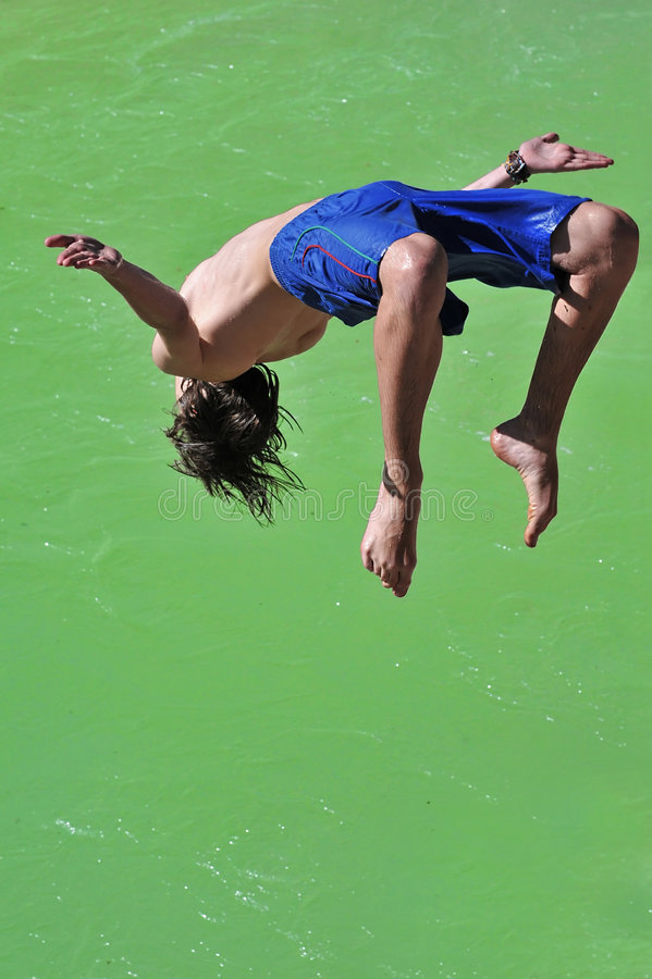 Download Salto into the green stock image. Image of sporty, sporting - 7807895