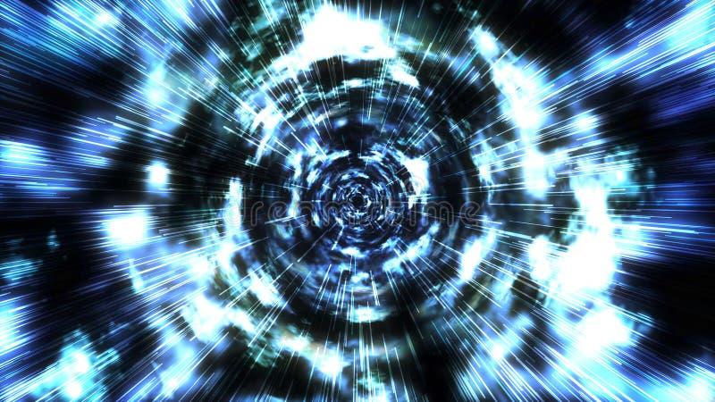 Salto Hyperspace a través de las estrellas a un espacio distante libre illustration