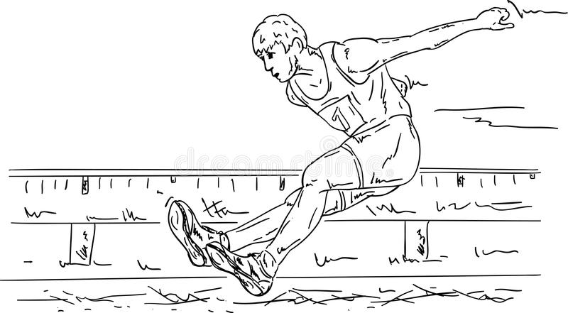 Salto lungo illustrazione vettoriale