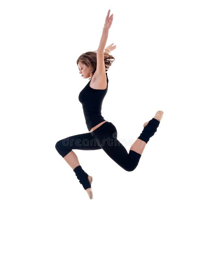 Salto moderno del danzatore fotografie stock