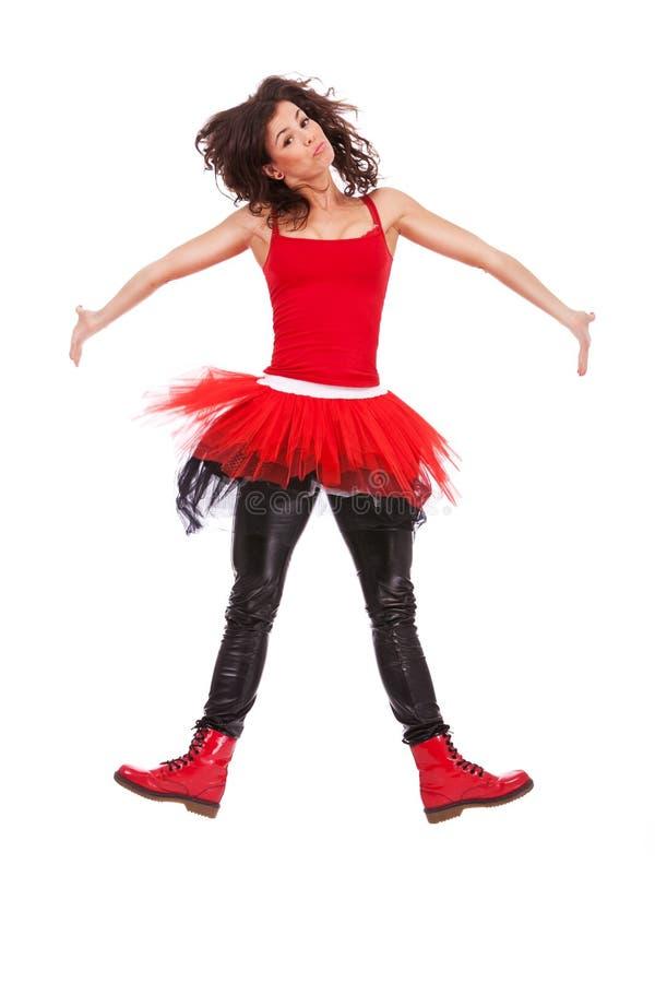 Salto moderno della ballerina fotografia stock libera da diritti