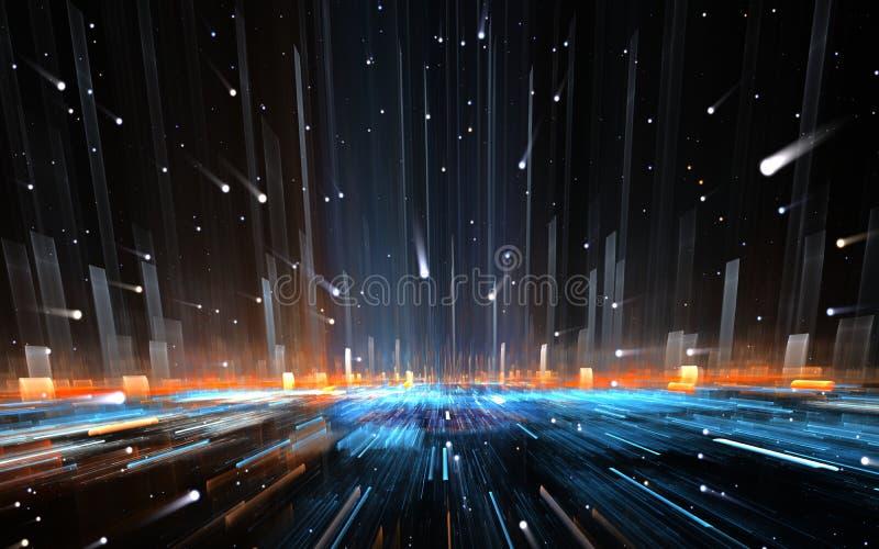 Salto temporal, viajando no espaço ilustração do vetor