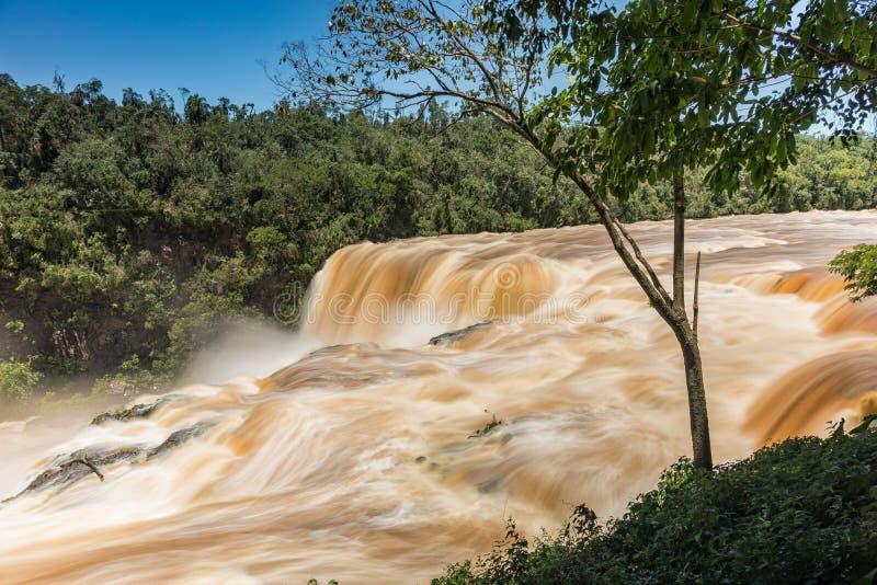 Saltos Del Montag in Paraguay stockbilder