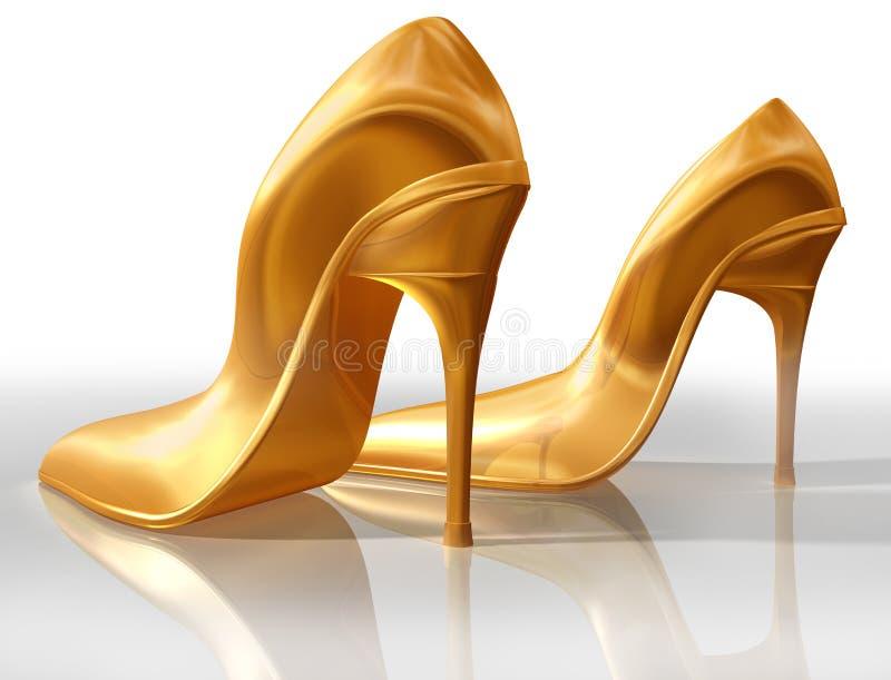 Saltos elevados do ouro ilustração stock