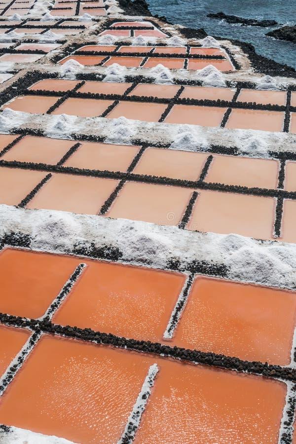 Saltworks de Fuencaliente, La Palma, Ilhas Canárias imagem de stock royalty free