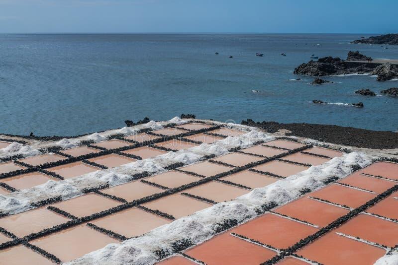 Saltworks de Fuencaliente, La Palma, Ilhas Canárias imagens de stock