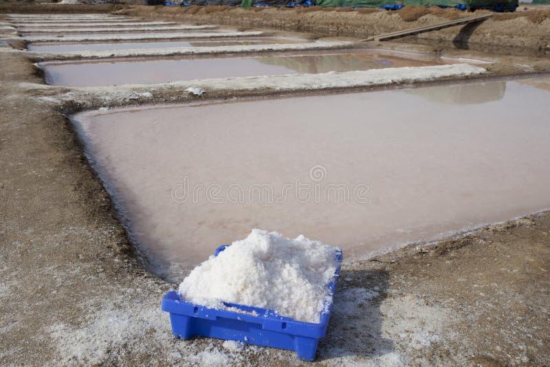 Saltworks de Isla Cristina, Huelva, Espanha fotos de stock royalty free
