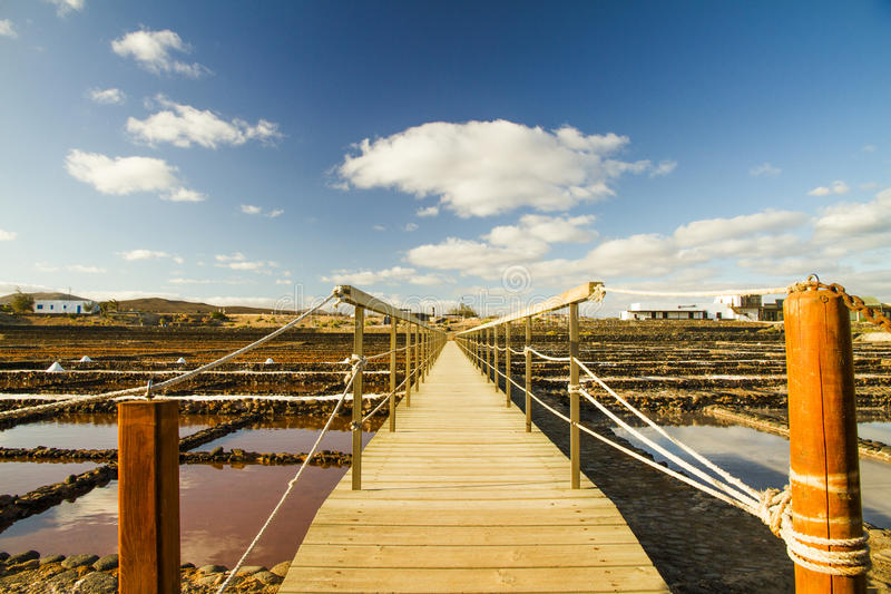 Saltworks Fuerteventura royalty-vrije stock fotografie