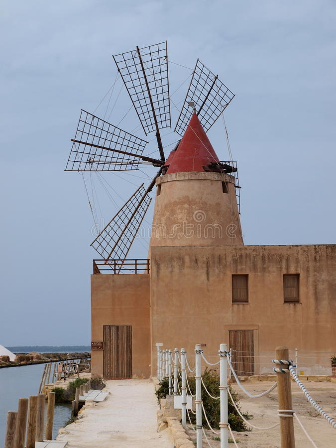 Saltworks of Marsala, Sicily, Italy royalty free stock images
