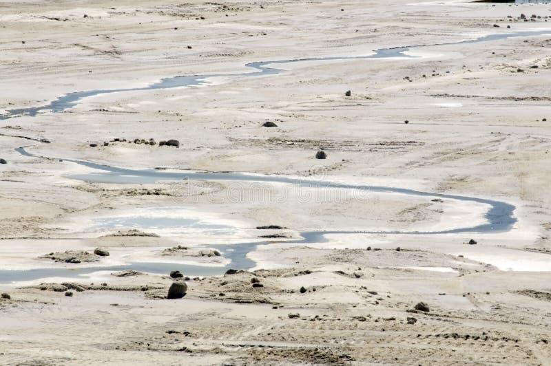 Saltworks: Zout-DE-Giraud, Camargue royalty-vrije stock fotografie