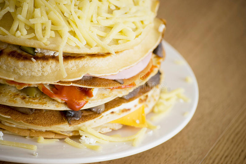 Download Salty pancakes stock image. Image of meal, plate, lunch - 24447393