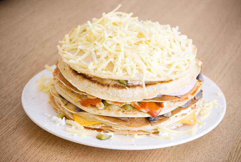 Salty Pancakes Stock Photography