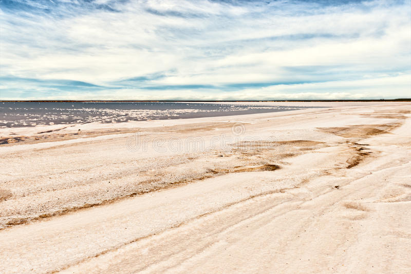 Download Salty shoreline stock image. Image of clouds, industry - 30992573