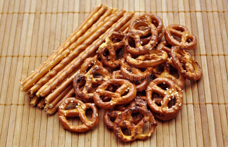 Salty snacks royalty free stock photos