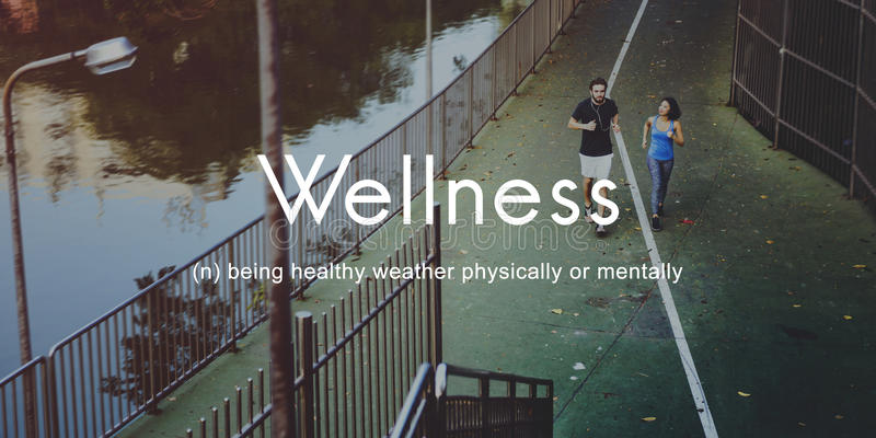 Salubrious Wellness Healthy Fitness Strong Powerful Concept stock photography