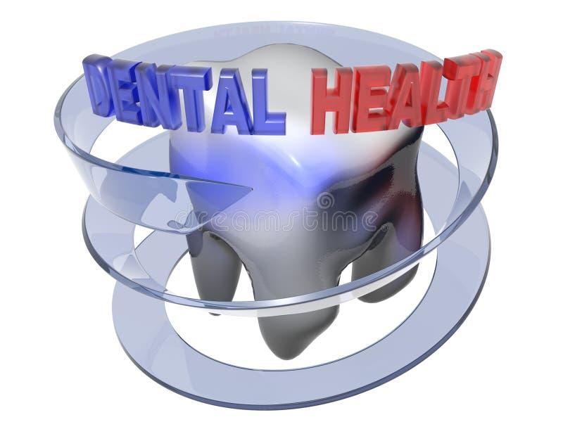 Salud dental - representación 3D stock de ilustración
