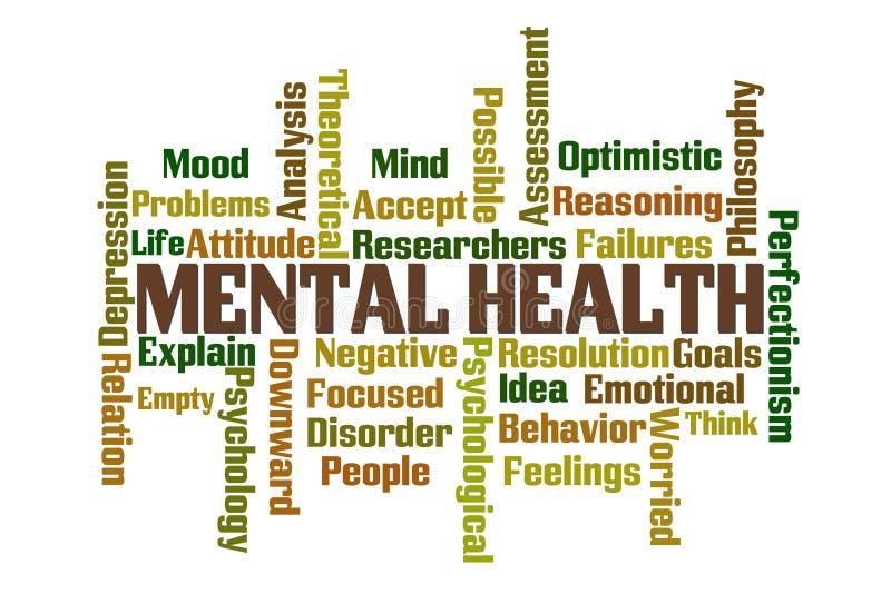 Salud mental stock de ilustración