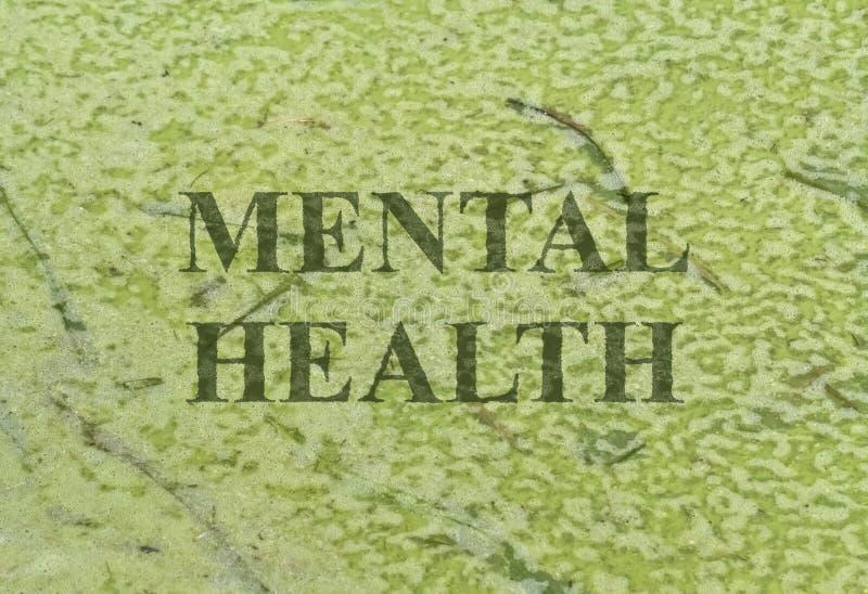 Salud mental del texto imagen de archivo