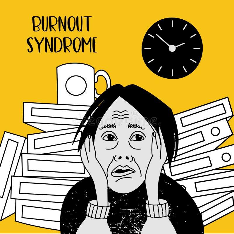 Salud mental Síndrome de la quemadura Trastorno mental Illustr del vector libre illustration