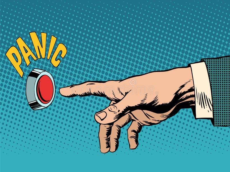 Salud psicológica del concepto del negocio del pánico stock de ilustración
