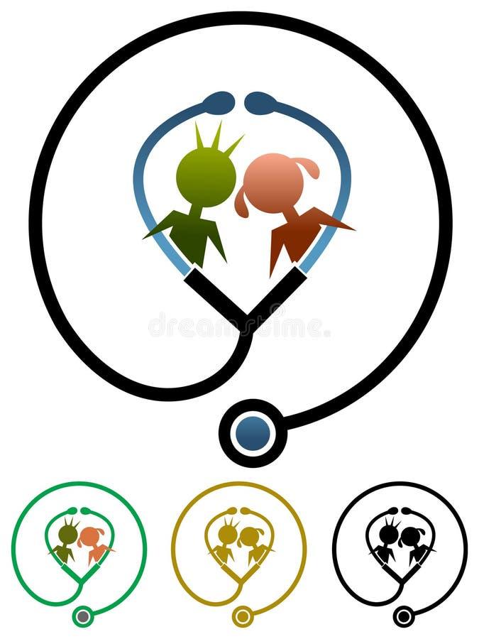 Saludes infantiles ilustración del vector