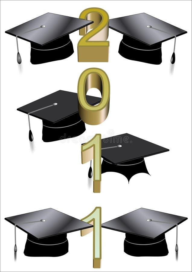 saludo 2011 del graduado libre illustration