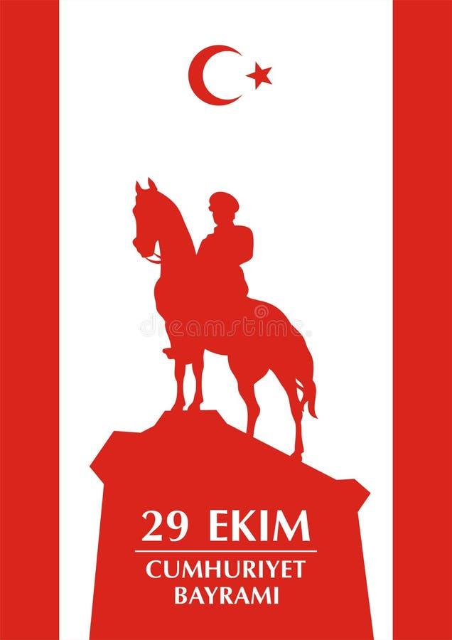 Saludo de Cumhuriyet Turkiye ilustración del vector
