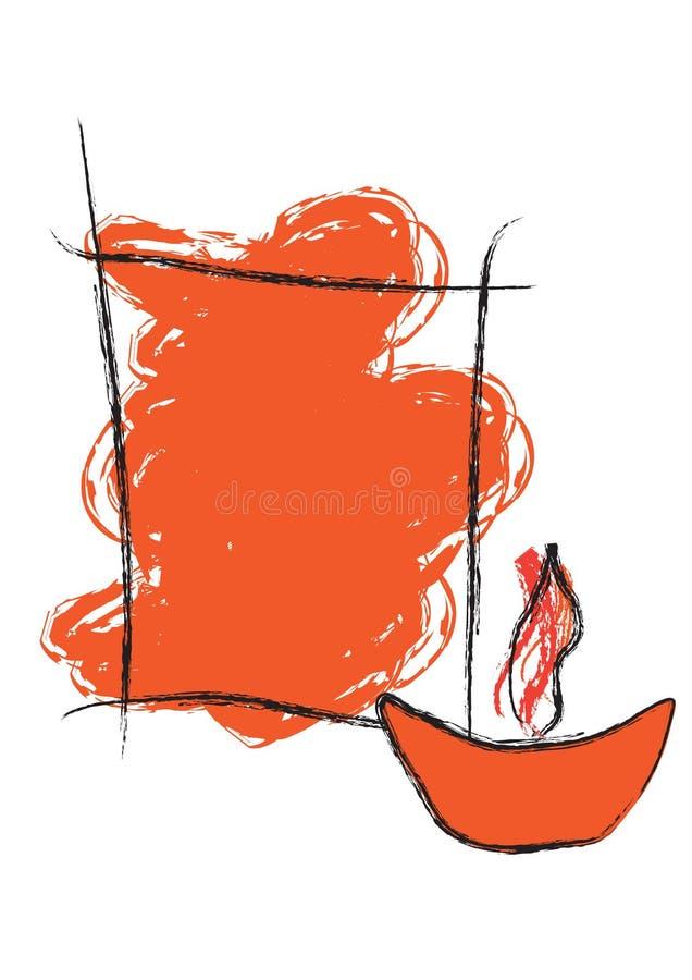 Saludo de Diwali - vector libre illustration