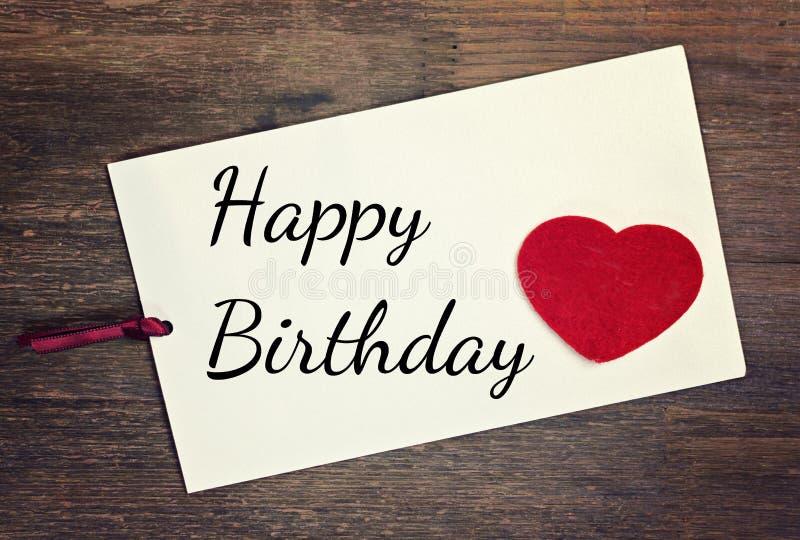 Saludo de feliz cumpleaños foto de archivo libre de regalías