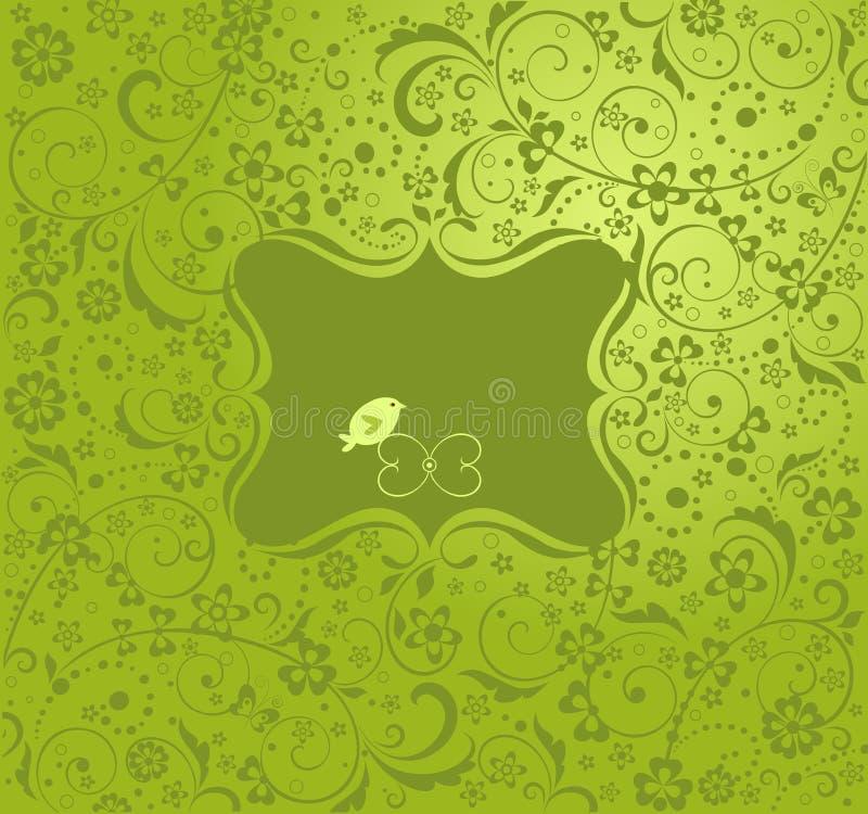 Saludo de la carta verde libre illustration