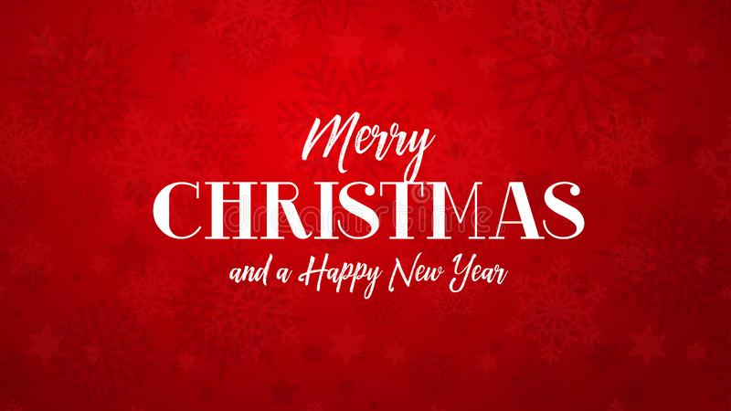 Saludo de la Feliz Navidad en fondo rojo stock de ilustración