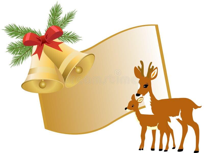 Saludo de la Navidad stock de ilustración