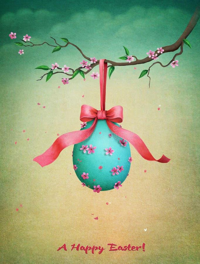 Saludo de la postal de Pascua del vintage ilustración del vector