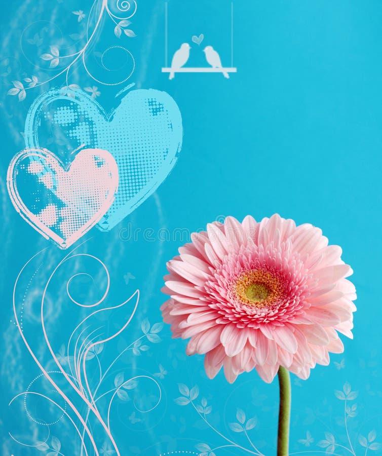 Saludo de la tarjeta del día de San Valentín foto de archivo libre de regalías