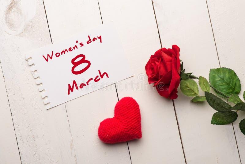 Saludo del día de las mujeres s foto de archivo