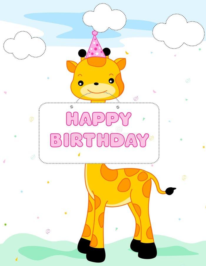 Saludo del feliz cumpleaños stock de ilustración