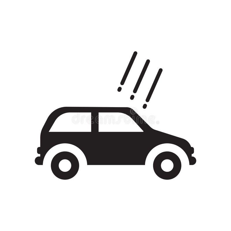 Saludo en el icono del coche Saludo de moda en el concepto del logotipo del coche en whi stock de ilustración