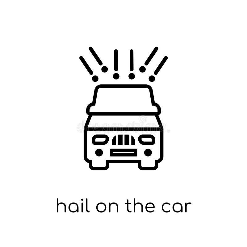Saludo en el icono del coche Saludo linear plano moderno de moda del vector en t libre illustration