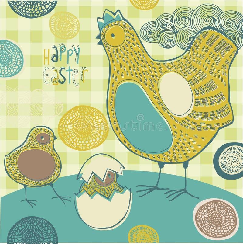 Saludo feliz de Pascua ilustración del vector